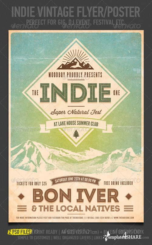GraphicRiver Indie Vintage Flyer/Poster