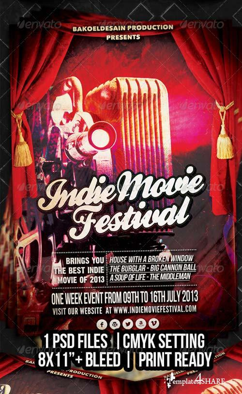GraphicRiver Indie Movie Festival Flyer