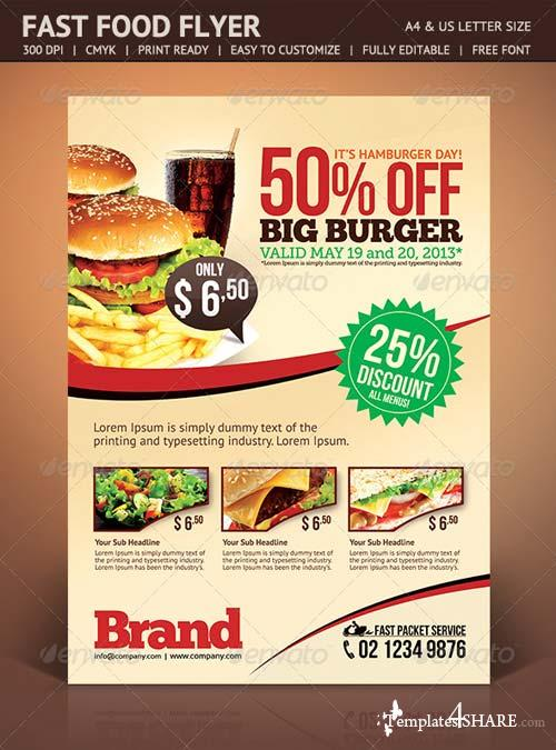 GraphicRiver Fast Food Flyer 4676474