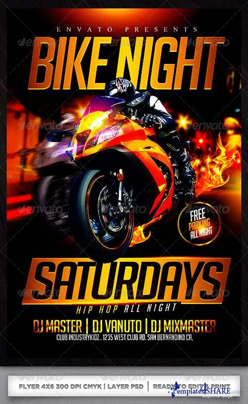 GraphicRiver Motorcycle Event Flyer