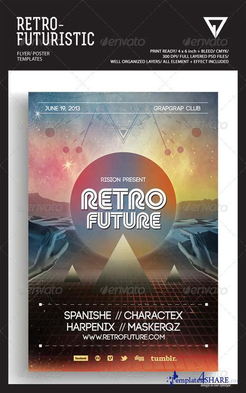 GraphicRiver Retro Futuristic Flyer/Poster