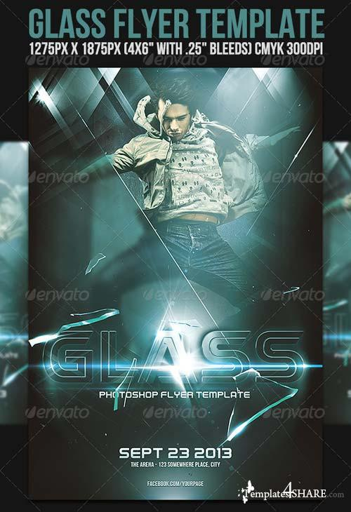 GraphicRiver Glass Flyer Template