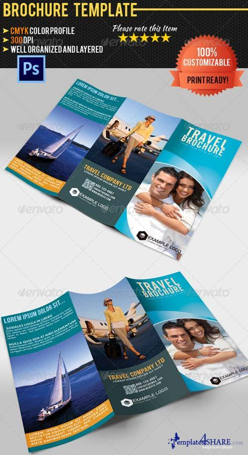 GraphicRiver Tri-Fold Travel Brochure