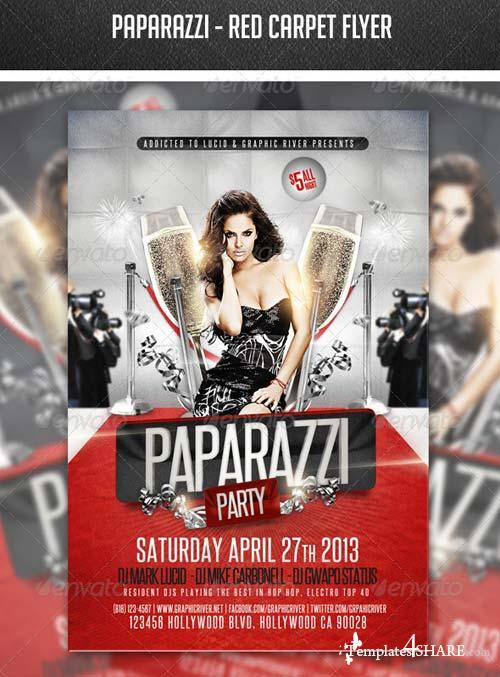 GraphicRiver Paparazzi - Red Carpet Flyer