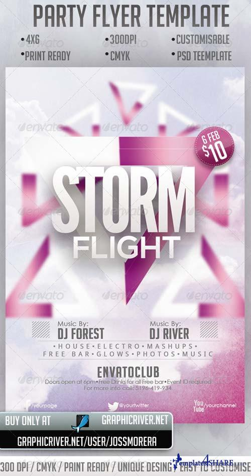 GraphicRiver Storm Flight Party Flyer Template