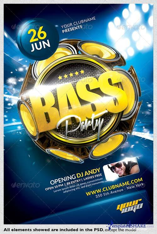 GraphicRiver Bass Party Flyer Template