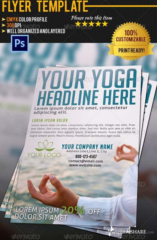 GraphicRiver Yoga Flyer Template