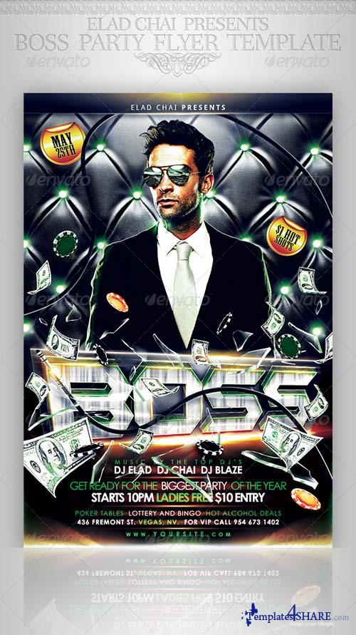 GraphicRiver Boss Event Party Flyer Template