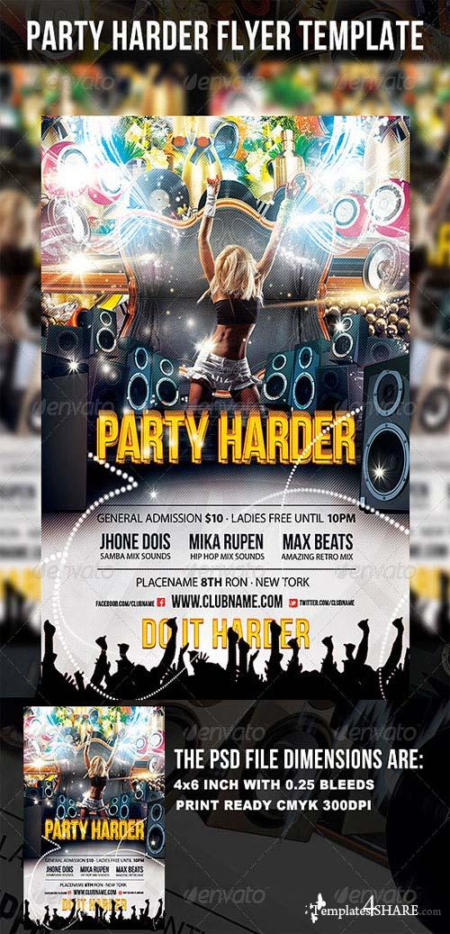 GraphicRiver Party Harder Flyer Template