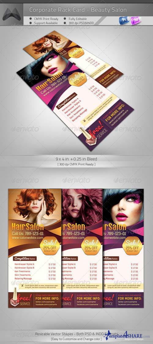 GraphicRiver Corporate Rack Card - Beauty Salon