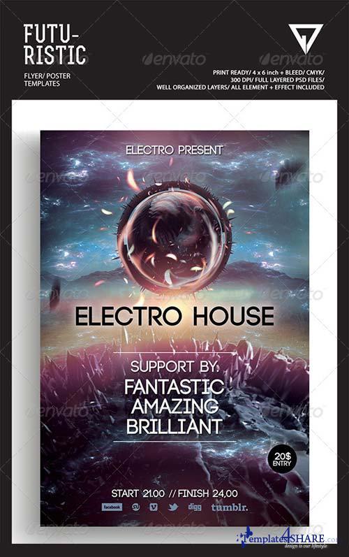 GraphicRiver Futuristic Flyer/Poster