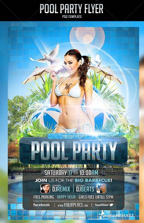 GraphicRiver Pool Party Flyer Template