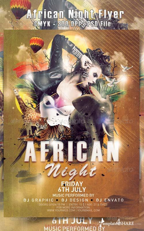 GraphicRiver African Night Flyer