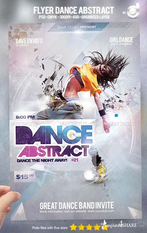 GraphicRiver Flyer Dance Abstract