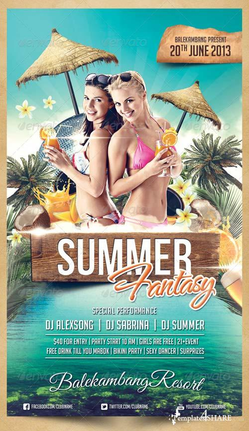 GraphicRiver Summer Fantasy Flyer