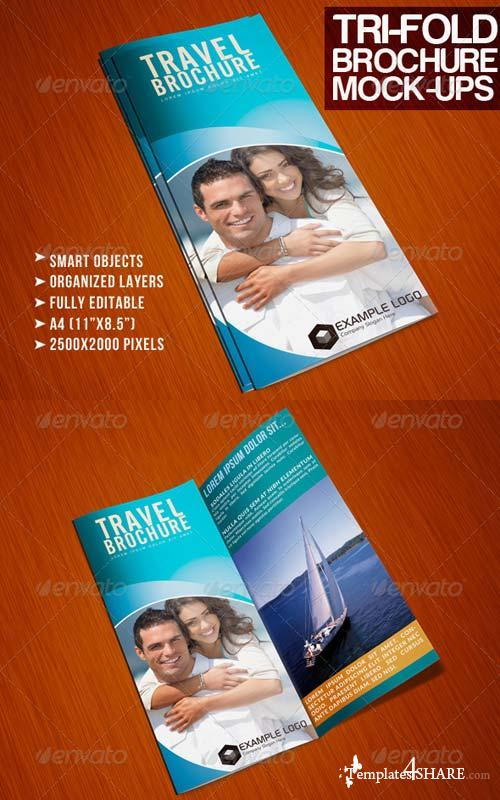 GraphicRiver Photorealistic Tri-Fold A4 Brochure Mock-up