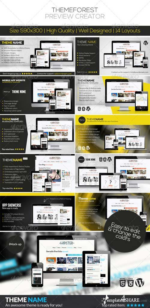 GraphicRiver ThemeForest Preview Creator