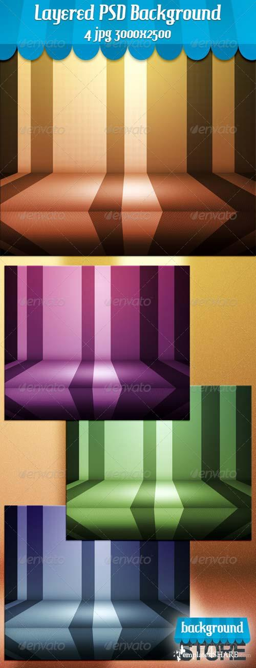 GraphicRiver Retro Stage PSD Background