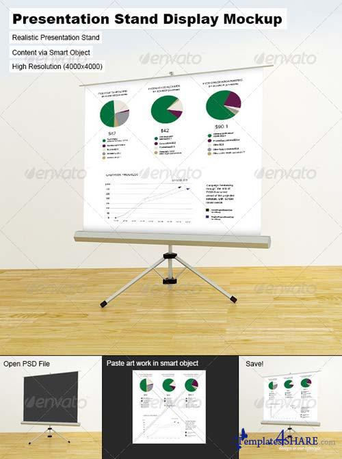 GraphicRiver Presentation Stand Display Mock-Up