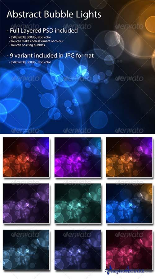 GraphicRiver WEB2.0 Abstract Bubble Lights Background Pack