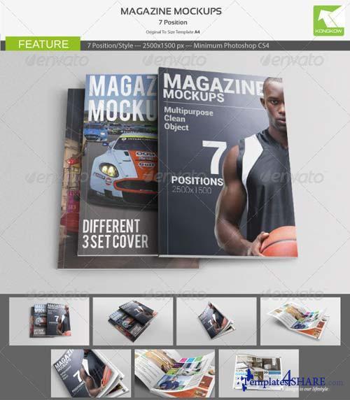 GraphicRiver Magazine Mockups 4835784
