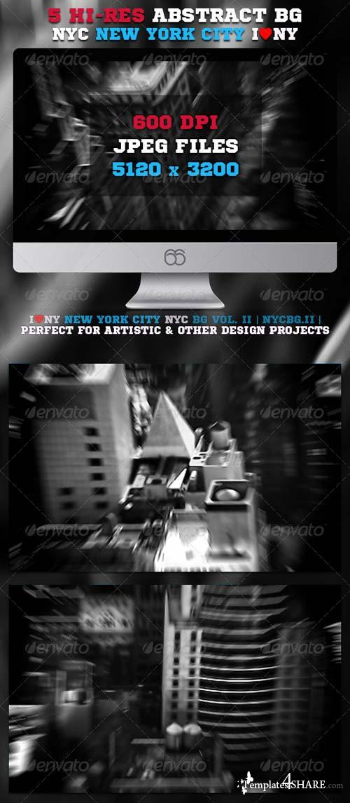 GraphicRiver 5 Hi-Res Abstract New York City NYC Backgrounds II