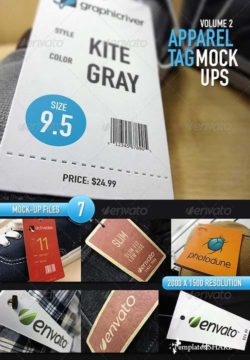 GraphicRiver 7 Apparel Tag Mock Ups