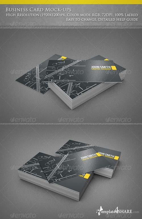 GraphicRiver Business Card Mock-ups 4817744