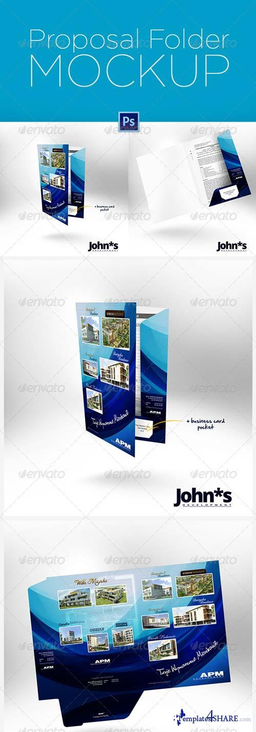 GraphicRiver Proposal Paper Folder Mockup