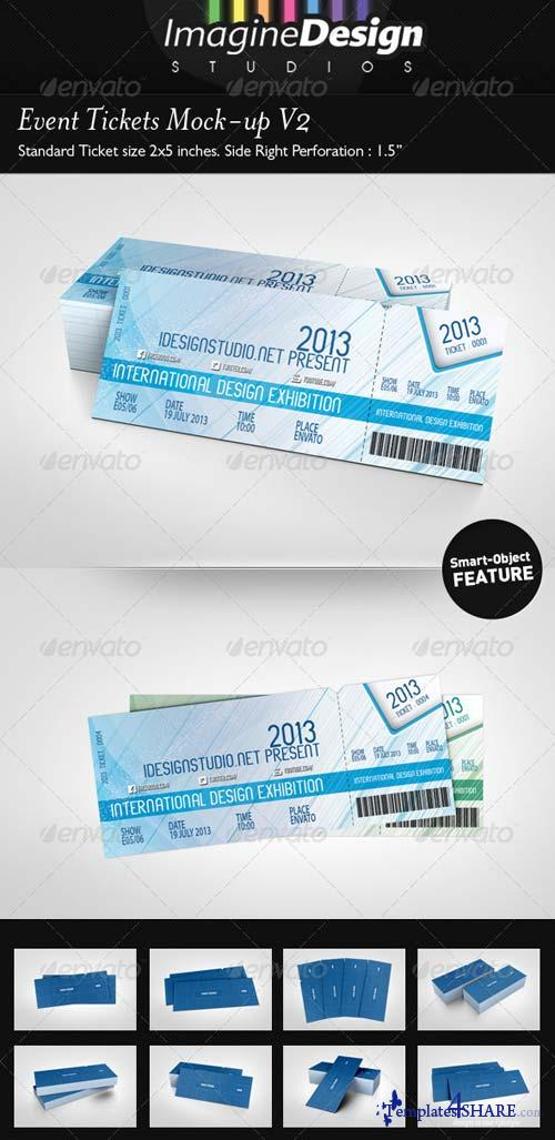 GraphicRiver Event Tickets Mock-up V2