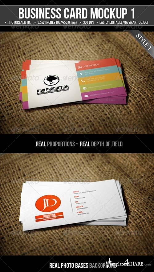 GraphicRiver 2 Realistic Business Card Mock-Ups