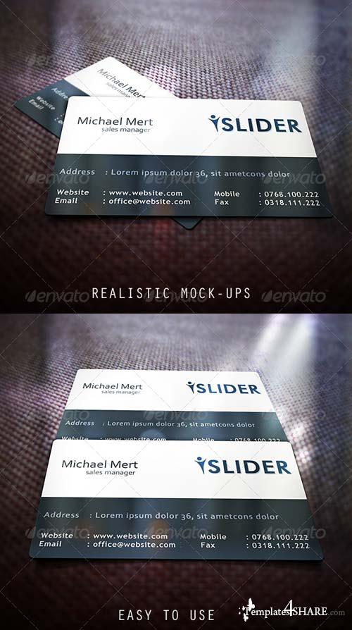 GraphicRiver Realistic Business Card Mock-Ups 4804050