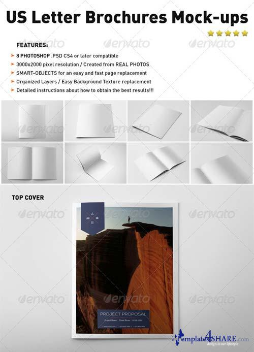 GraphicRiver Photorealistic US Letter Brochure Mock-Ups