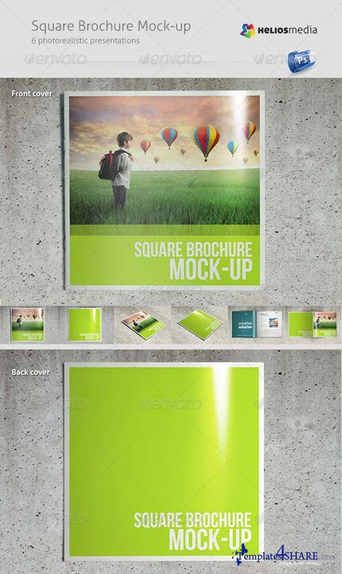 GraphicRiver Square Brochure Mock-up