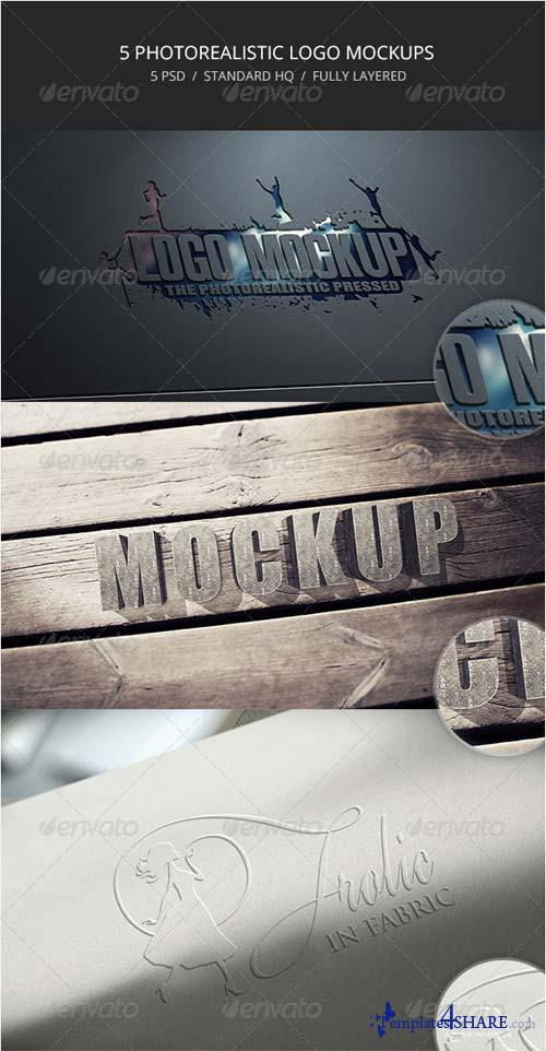GraphicRiver 5 Photorealistic Logo Mockups - 6