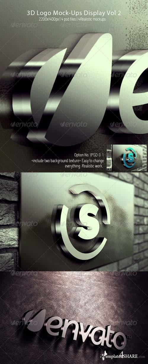 GraphicRiver 3D Logo Mock-Ups Display Vol 2