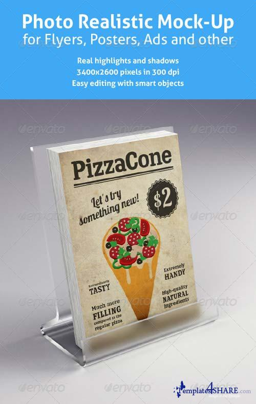 GraphicRiver Realistic Mock-Up for Flyers, Posters and other