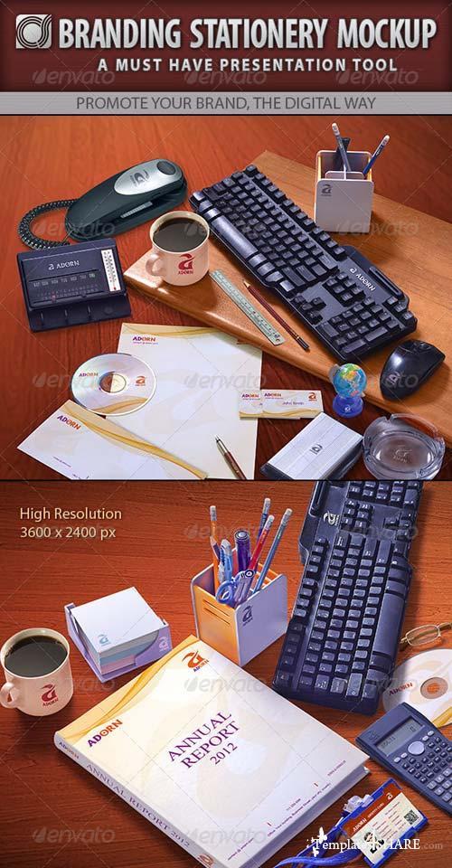 GraphicRiver Cs Branding Stationery Mockup