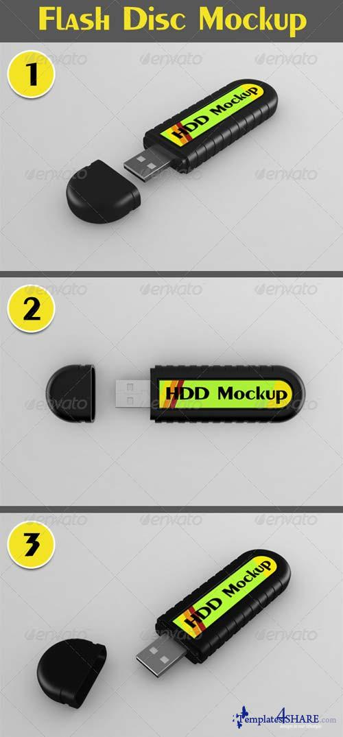 GraphicRiver Flash Disc Mockup