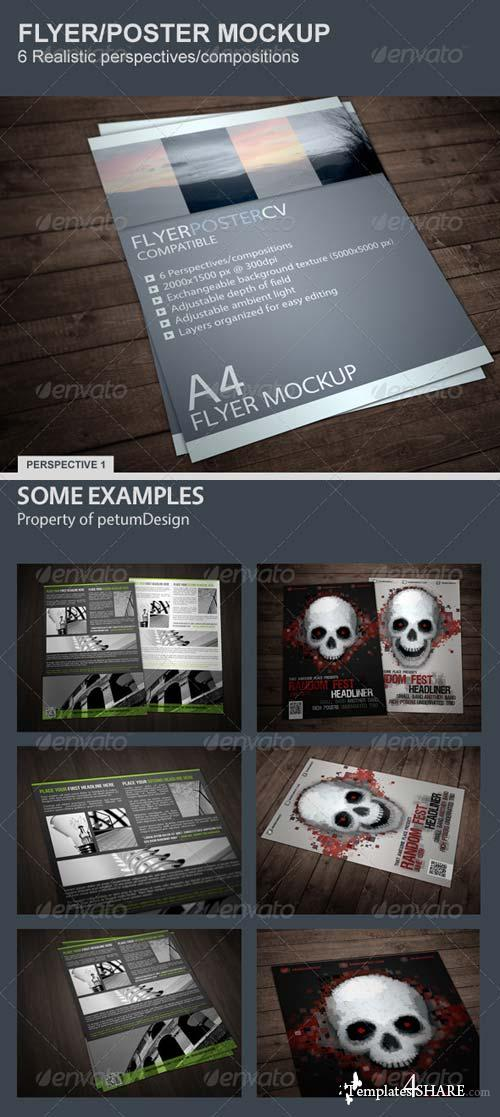 GraphicRiver Realistic Flyer/Poster Mockup