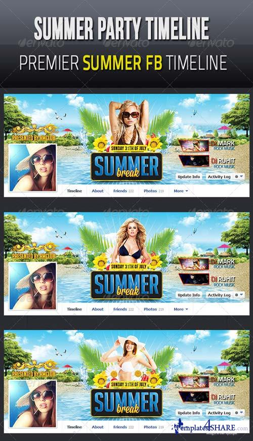 GraphicRiver Summer & Beach Party Facebook Timeline Cover v1