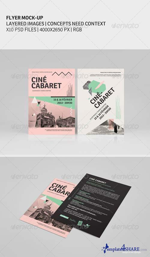 GraphicRiver Flyer Mock-Ups 4868755