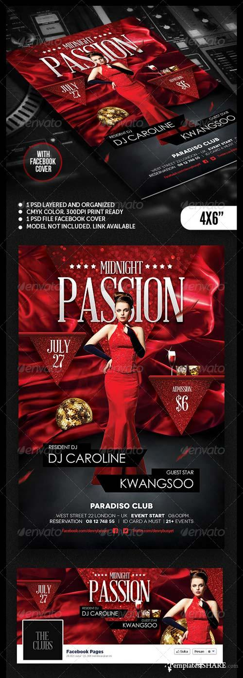 GraphicRiver Midnight Passion Nightclub Flyer Template