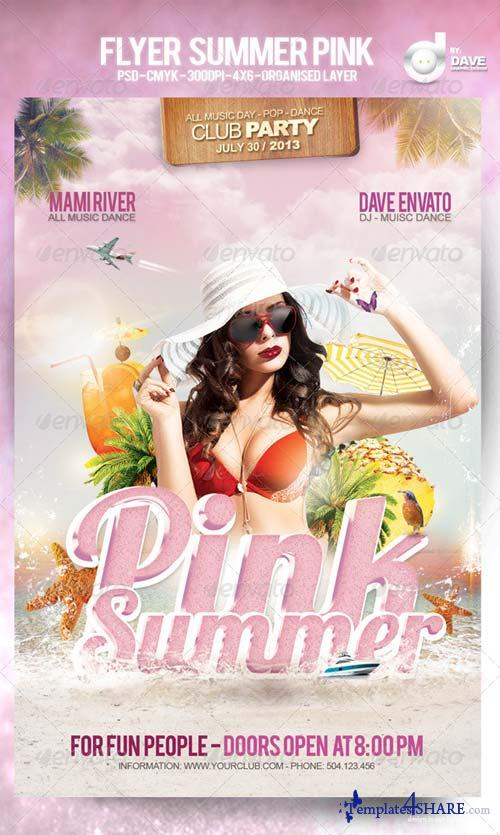 GraphicRiver Flyer Summer Pink Template