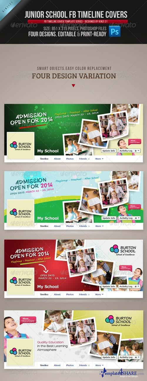 GraphicRiver Junior School FB Timeline Covers