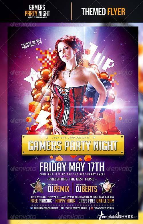 GraphicRiver Gamers Party Night Flyer Template