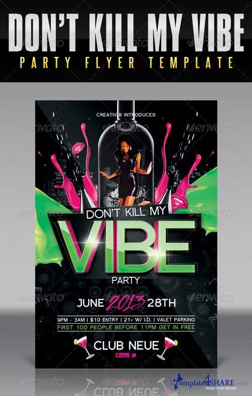 GraphicRiver Vibe Party Flyer Template