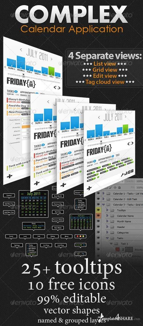 Graphicriver Complex Calendar Application
