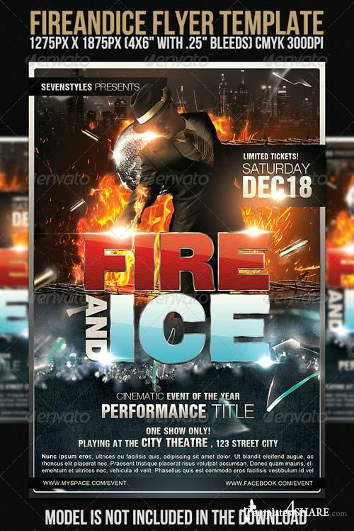 GraphicRiver FireAndIce Flyer Template