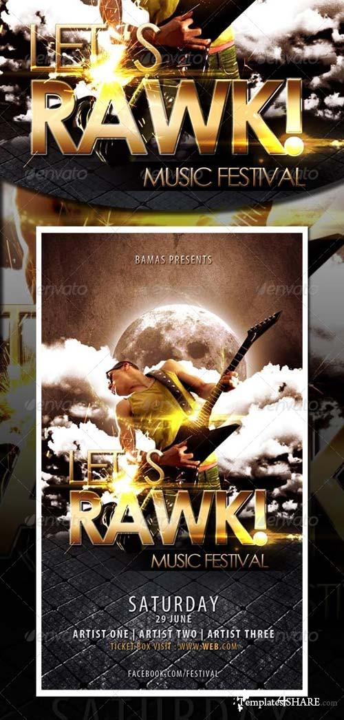 GraphicRiver Let's Rawk Template